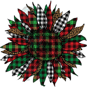 Plaid Christmas Sunflower