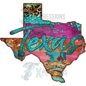Texas Rusty Map