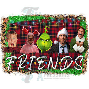 Christmas Movie Friends with background