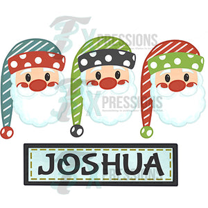 Personalized Santa Trio