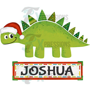 Personalized Christmas Dinosaur