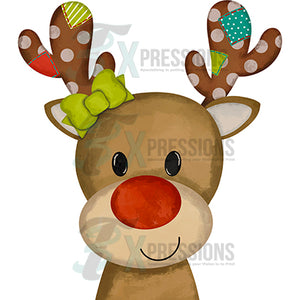 Girl Patchwork Reindeer