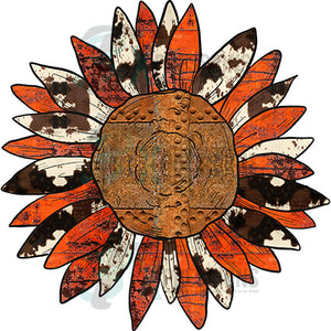 Rusty and Cowhide Sunflower