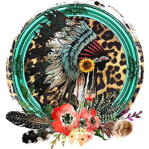 Headdress Leopard Distressed