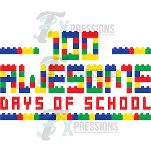 100 Days of Awesome School lego