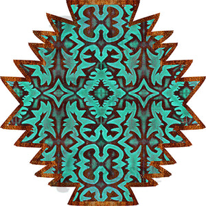 Embossed Aztec shape pattern