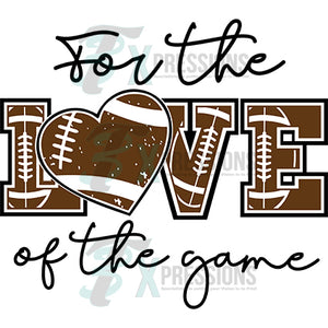 for the love of the game football