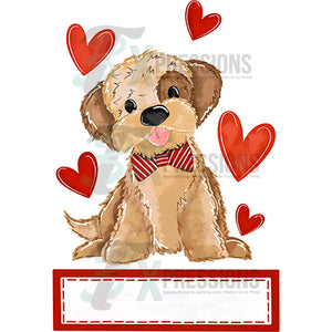 Personalized Boy Puppy Valentine