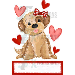 Personalized Girl Pupply Valentine