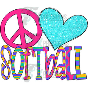 Peace Love Softball