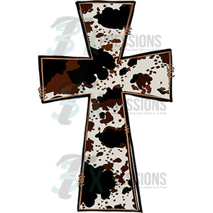 Cow Print Cross