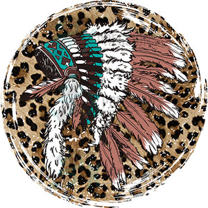 Leopard Indian HeadDress