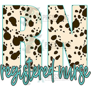 Registered Nurse Cow Print