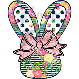 floral bunny with hairbow