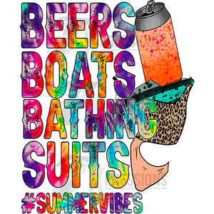 beers boats bathing suits