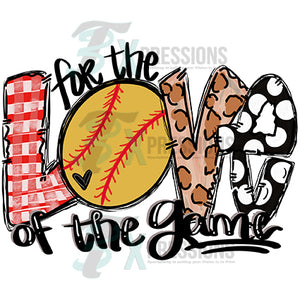 HTV For the Love of the Game Softball, leopard