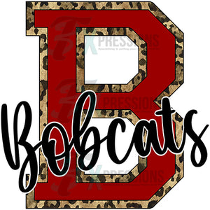 Personalized Varsity Letter leopard outline