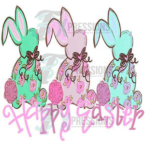 3 Bunnies Happy Easter