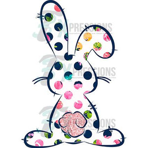 Polkadot Bunny Outline
