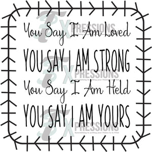 You Say I am Lord, You Say I am Strong