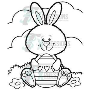 Easter Bunny and Egg, Coloring Shirt