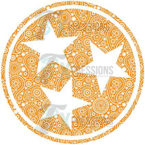 TN tri star orange paisley