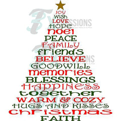 christmas words tree 3t xpressions - Christmas Words That Start With S