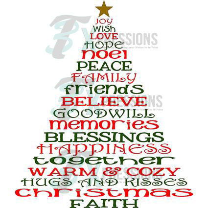 Christmas Words Tree 3t Xpressions
