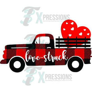 Single Heart Buffalo Plaid Truck - 3T Xpressions