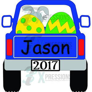Personalized Blue Easter Truck - 3T Xpressions