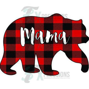 Mama Bear Buffalo Plaid
