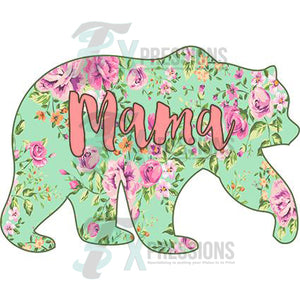 Mama Bear Pastel Flower - 3T Xpressions