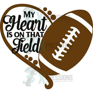 My Heart Is On The Field Football - 3T Xpressions