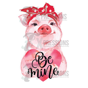 Personalized Piggie Be Mine - 3T Xpressions