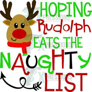 Rudolph Naughty List - 3T Xpressions