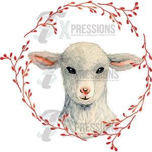 Lamb In Wreath - 3T Xpressions