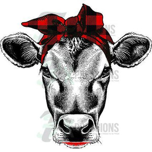 Heat Transfer Vinyl Buffalo Plaid Cow - 3T Xpressions