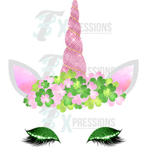 Clover Pink Horn Unicorn - 3T Xpressions