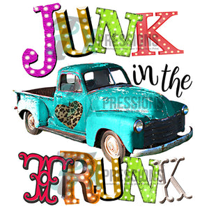 Heat Transfer Vinyl Junkin The Trunk - 3T Xpressions
