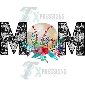 HTV Baseball Mom Lace - 3T Xpressions