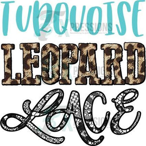 HTV Turquoise Leopard Lace - 3T Xpressions
