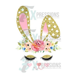 Gold And Pink Bunny Face - 3T Xpressions
