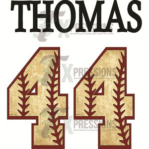 Personalized Baseball Name And Number - 3T Xpressions