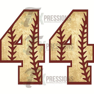 Personalized Baseball Numbers - 3T Xpressions