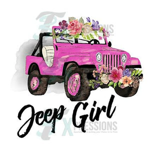 HTV Pink Jeep With Gray Background - 3T Xpressions