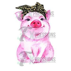 HTV Leopard Scarf Pig - 3T Xpressions