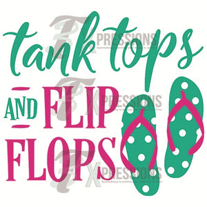 HTV Tank Tops And Flipflops - 3T Xpressions