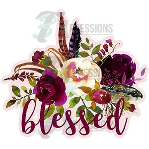 HTV Blessed Floral - 3T Xpressions