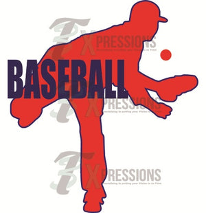 Baseball Silhouette - 3T Xpressions