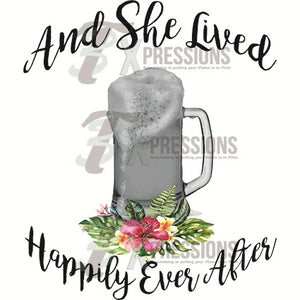 Beer Mug, She Lived Happily Ever After - 3T Xpressions
